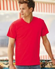 61066 Fruit Of The Loom Valueweight V-Neck T-shirt